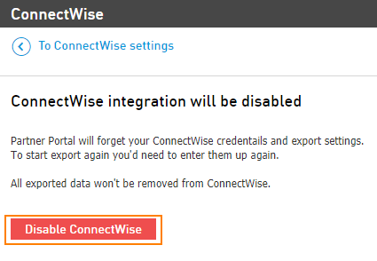 Disable CW