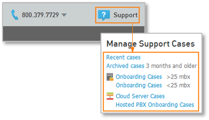Manage Support Cases